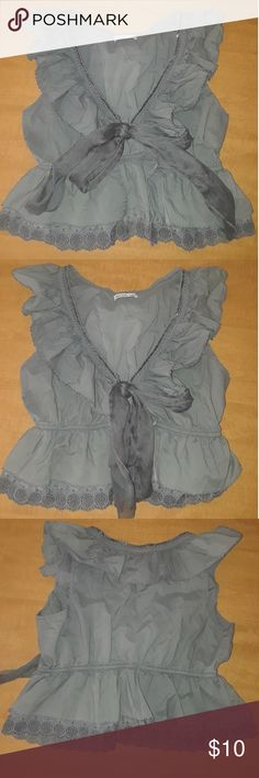 🏵CHARLOTTE RUSSE VEST🏵 Charlotte Russe tie front vest in great condition.  Size medium.  Super cute.    Non smoking home  I do have inside dogs Charlotte Russe Tops