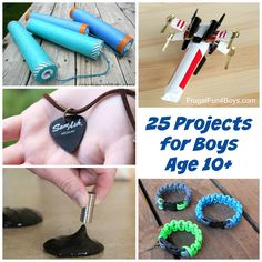 Title says for boys, but I know my girl would love some of these. 25 Awesome Projects for Boys Age 10+