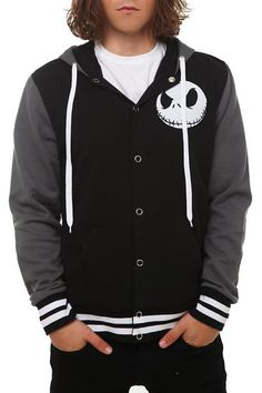 I found 'The Nightmare Before Christmas Jack Varsity Hoodie - 156855' on Wish, check it out!