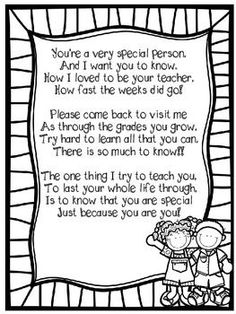 END OF THE YEAR POEM TO STUDENTS! - FREE: