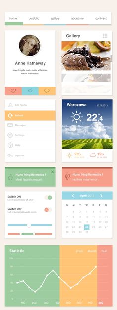 The Ero Widget - Free UI Kit #flat #freebie