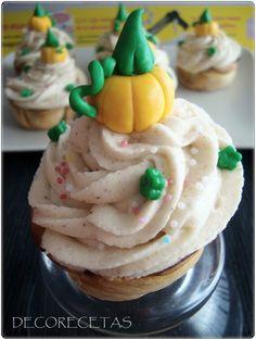 DECORECETAS: Cupcakes de calabaza