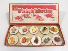 DDR Spielzeug Kaufladen 10 belegte Tellerchen im OVP