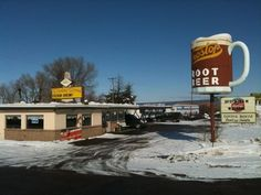 Frostop Drive-In, located off of Highway 20 in Ashton, has been a popular place for both locals and visitors passing through for over 50 years.  You'll most easily recognize the place by the giant root beer float located in front of the restaurant.