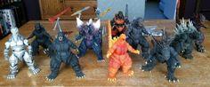 Godzilla SH Monsterarts lot of 9 figures and accessories plus NECA Shin Godzilla