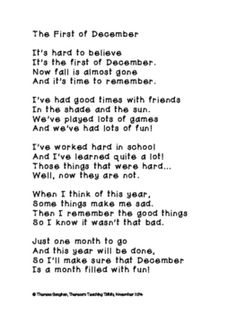 The First of December Poem and Writing Prompt
