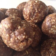 No sugar, low GI choc peanut butter balls - lots of yummy alternative ingredients as well.
