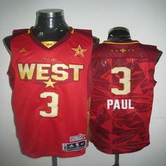 2089e0b06561c 2011 All Star Hornets  3 Chris Paul Red Stitched NBA Jersey Chris Paul  Jersey