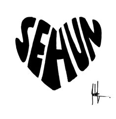 EXO-SeHun logo by shufleur on DeviantArt Baekhyun, Hunhan, New Sticker, Logo Sticker, Exo Stickers, Draw Logo, Exo Korean, Korean Anime, Exo Group