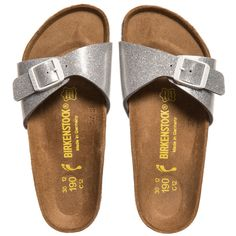 Birkenstock Girls Silver Glitter 'Madrid' Sandals at http://www.childrensalon.com/#a_aid=51f456f914eb5