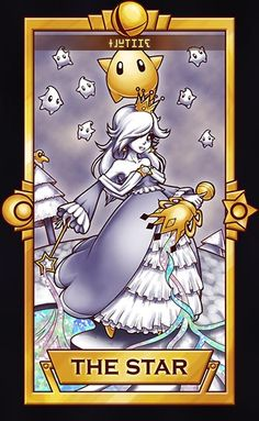 Of course, Rosalina and Luma would be The Star card. Haha ============================= For more Super Smash Tarot Cards, please this d. Rosalina - The Star Super Smash Bros, Nintendo Characters, Video Game Characters, Super Mario Brothers, Super Mario Bros, The Legend Of Zelda, Star Citizen, Fun Group Games, Nintendo Princess