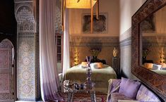 Dreaming of Morocco: the Lion suite at the Riad Enija, Marrakech #bedroom #Marrakech #purple