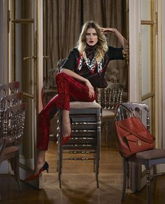 Louis Vuitton Pre-Fall 2013 Ad Campaign - Luv these pants - Luv red & black - Luv these pics!