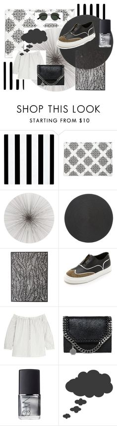 """""""G."""" by giuliamacaluso ❤ liked on Polyvore featuring WLS Home NYC, Shiraleah, Tisch New York, Deborah Rhodes, Chilewich, Giuseppe Zanotti, Madewell, STELLA McCARTNEY, NARS Cosmetics and Ray-Ban"""