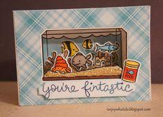 Maria Giselle's Creative Cuts: Aquarium Diorama Card