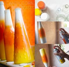Make your own candy corn vase on my blog!