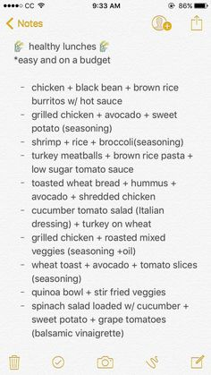Recipes example note 8760000682 - Super recipe concept to think about.Healthy Recipes example note 8760000682 - Super recipe concept to think about. Healthy Meal Prep, Get Healthy, Healthy Snacks, Healthy Recipes, Eating Healthy, Healthy College Lunches, Eating Vegan, Work Lunches, Vegetarian Meal
