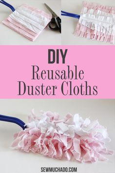 Swiffer Duster Reusable Cloths Tutorial - Sew your own washable duster cloths with this easy diy duster tutorial! Make reusable Swiffer duster cloths with this easy tutorial! No more need to buy expensive refills - you'll love this DIY cloth duster! Easy Diy Crafts, Easy Diy Projects, Sell Diy, Craft Projects, Sewing Hacks, Sewing Tutorials, Sewing Crafts, Sewing Tips, Household Cleaning Tips