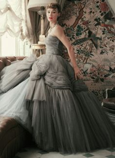Dior vintage.  How amazing would it be to have an occasion to wear something like this?