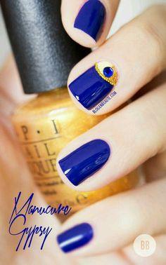 Azul con dorado