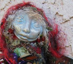 ooak Bohemian Spirit Art Doll   soft sculpture Intuition and Creativity. $55.00, via Etsy.