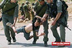 Israeli Soldiers abusing a Palestinian boy!