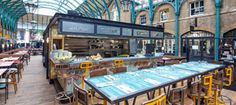 Jamie Oliver's 'Union Jacks' is a huge hit in the Market Building, Covent Garden.