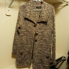 Axcess sweater Brown and white Axcess Sweaters Cardigans