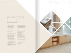 Property Brochure Spread | lovely; delicate and simple. love the colors!