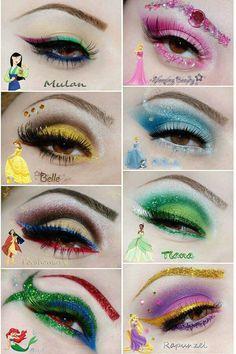 kinderschminken Disney impressed make-up. Disney Eye Makeup, Disney Inspired Makeup, Belle Makeup, Disney Princess Makeup, Eye Makeup Art, Makeup Artistry, Disney Character Makeup, Cinderella Makeup, Ariel Makeup