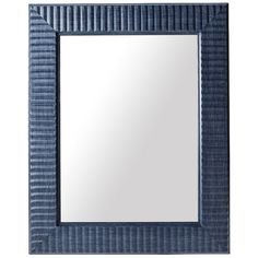 Add elegance and interest to any bare wall in your home with this stylish wave mirror from Threshold. The frame is made of polystyrene, and its matte finish ad…