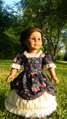 18 inch Doll Gown Civl war Style Two piece by DollGownsByWendy, $18.50