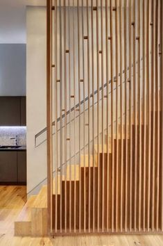 30 Marvelous And Creative Indoor Wood Stairs Design Ideas You Never Seen Before Architecture Details, Interior Architecture, Interior Design, Installation Architecture, Timber Screens, Timber Slats, Timber Wood, Escalier Design, Stair Handrail