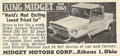 1962 ad: King Midget for 1963