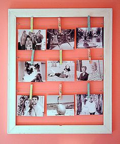 Clothes pin photo holder
