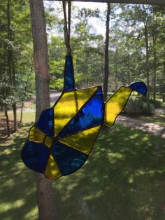 WV stained glass sun catcher