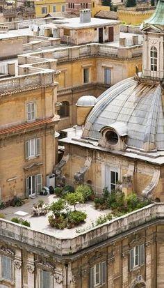 Parisian Rooftop Garden. #RooftopGarden