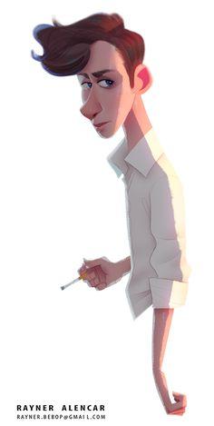 ArtStation - Cigarette Dude, Rayner Alencar