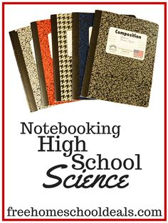 Notebooking Homeschool High School Science - such great ideas!