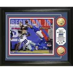 """Officially Licensed NFL Limited Edition Goldtone Coin Photo Mint - Odell Beckham Jr. """"TD Catch"""""""