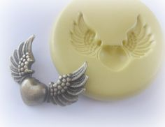 Wings Heart Mold Polymer Clay PMC Fondant Resin by WhysperFairy, $5.95