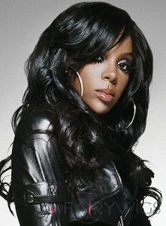 Kelly Rowland-love this look Long Weave Hairstyles, Side Bangs Hairstyles, Black Hairstyles, Kelly Rowland, Best Wigs, Wigs Online, Black Wig, Black African American, Wigs For Black Women