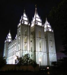 lds   The Salt Lake Mormon Temple, is the most famous of all LDS Temples.