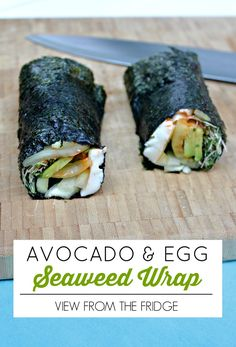 Avocado and Mango Seaweed Wraps! Like sushi rolls that you can easily whip up at home! And so healthy!