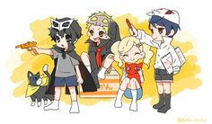 Persona 5 cute when they were still kids and cosplaying their metaverse costume