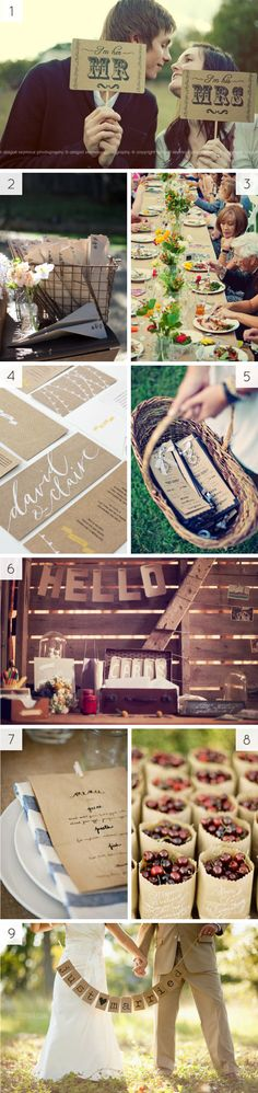 kraft paper wedding ideas - butcher paper