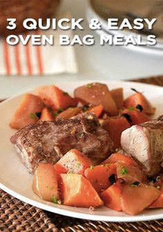 Try one of these simple meals that are sure to please the entire family without messing up the kitchen. Just toss the ingredients in an Oven Bag and put in the oven until cooked—it's that easy.