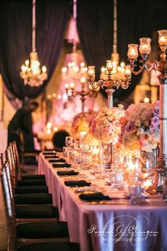 Wedding Tablescape Inspiration! we ♥ this! moncheribridals.com #weddingcenterpieces #tablescapes
