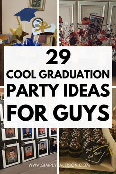 Outdoor Graduation Parties, Graduation Party Centerpieces, Graduation Party Planning, Graduation Party Themes, Ideas For Graduation Party, Graduation Card Boxes, Graduation Food, Grad Party Decorations, Grad Parties