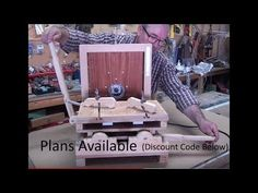 Horizontal Router Mortiser - Homemade - part 4 - Finish Router Machine, Toddler Bed, Presents, Woodworking, It Is Finished, Homemade, How To Plan, Cool Stuff, Creative